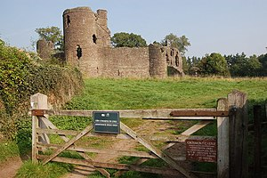 Grosmont, Monmouthshire - Entrance to Grosmont Castle ruins