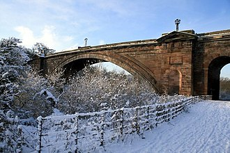 Grosvenor Bridge (Chester) - Image: Grosvenor Bridge, Chester near to Handbridge, Cheshire, Great Britain