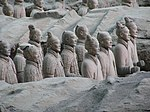 Ancient Chinese terra cotta soldiers.