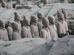 History of the Han dynasty - Qin dynasty soldiers from the Terracotta Army of Qin Shi Huang's mausoleum, located near Xi'an