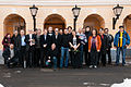 Group photo of Wikimedians from Wikimeetup in Moscow 2012-03-09.jpg
