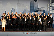 Group photo of the 2010 G-20 Toronto summit family photo
