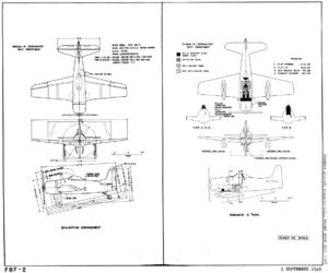 Grumman F8F-2 Bearcat BuAer drawings 1949