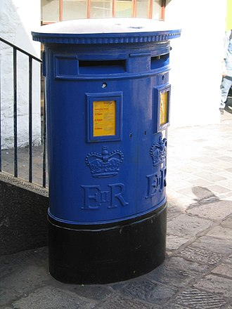 Guernsey - A Guernsey Post pillar box.
