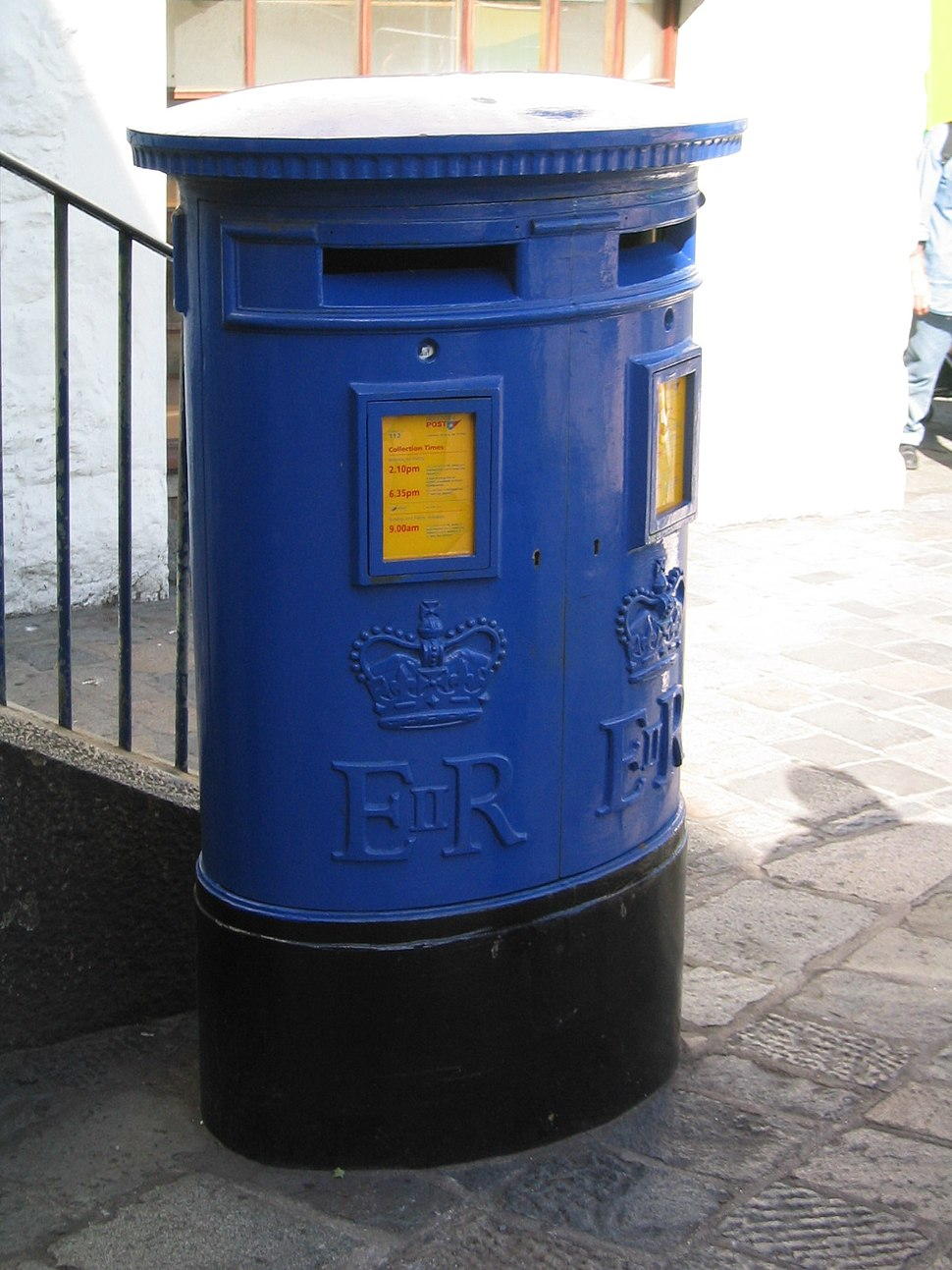 Guernsey Postbox type C double aperture pillar box