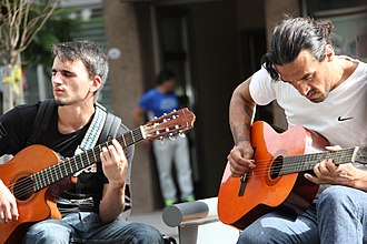 Guitarist - Guitar players in the city centre of Buenos Aires.