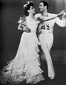 Gustav Wally med Rosita Serrano i en Karl Gerhard-revy lige efter krigen.