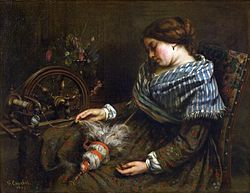 Gustave Courbet: The Sleeping Spinner