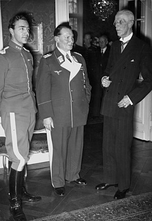 Gustaf V of Sweden - Prince Gustav Adolf, Hermann Göring, and King Gustaf V in Berlin, February 1939
