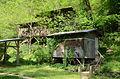 Gypsy Camp Historic District, ladie's restroom and sleeping quarters behind.JPG
