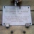 Gyurkovics Mária emléktáblája XI kerület Budafoki út 81.jpg
