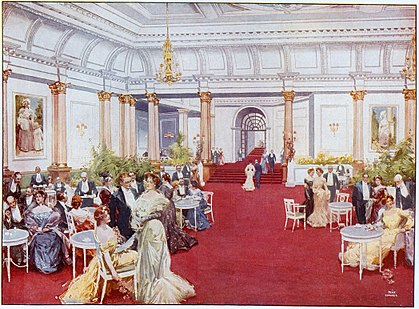 The large restaurant of the Savoy, c. 1900 Hotel Savoy a Londres.jpg