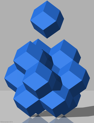 Rhombic dodecahedral honeycomb - Image: HC R1