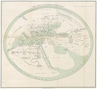 "Timeline of the name ""Palestine"" - Palestine in c.450 BC according to Herodotus (map as reconstructed by J. Murray, 1897)"