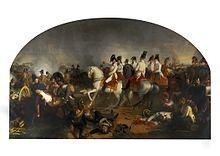 Erzherzog Karl und sein Stab in der Schlacht bei Aspern, Gemälde von Johann Peter Krafft, HGM (Quelle: Wikimedia)