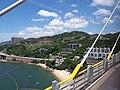 HK CityBus 960 view 汀九橋 Ting Kau Bridge 斜拉橋 Cable-stayed Tuen Mun District Tsing Long Highway August 2018 IX1 藍巴勒海峽 Rambler Channel 星悅海灣 Grand Rivera 06.jpg