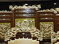 HK Shatin 沙田明星畫舫 Star Seafood Floating Restaurant Dragon chairs with folding screens.jpg