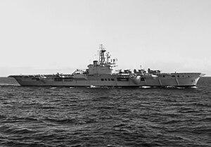 HMCS Bonaventure - Image: HMCS Bonaventure (CVL 22) underway 1961