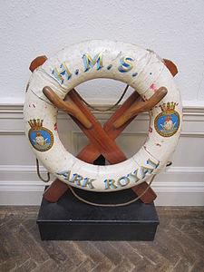 HMS Ark Royal lifebelt, Williamson Art Gallery.jpg