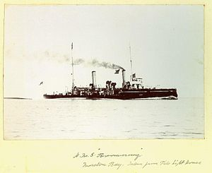 HMS Boomeranf from Pile Light House.jpg