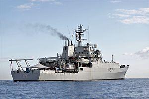 HMS Echo (H87) - Echo off Valetta, 2016
