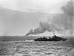 HMS ESKIMO patrolling the landing area during the Allied invasion of Sicily, July 1943. A18092.jpg