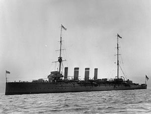 Action of 19 August 1916 - Image: HMS Falmouth (1910)
