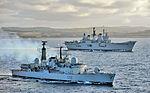 HMS Liverpool Escorts HMS Ark Royal MOD 45151336.jpg