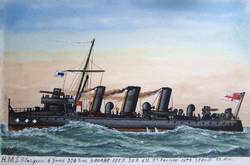 James Scott Maxwell, HMS Sturgeon, 1901