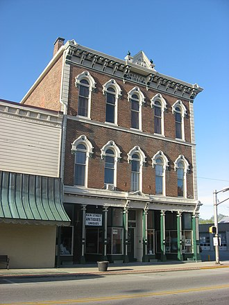 Hagerstown, Indiana - The Hagerstown IOOF Hall is listed on the National Register of Historic Places