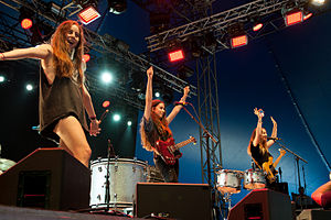 Haim (band) - Image: Haim Way Out West 2013