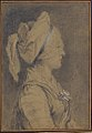 Half Figure of a Woman Wearing a Cap, in Profile to Right MET 63.92.2.jpg
