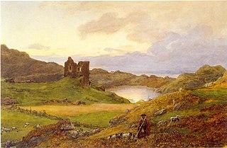 Landskap ved Tarbert Castle, Skottland