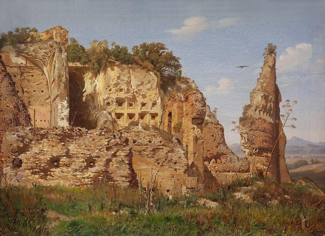 Landscape from Rome, Villa dei Quintili near Via Appia