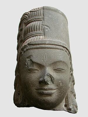 Hariharalaya - This 7th century sculpture of Harihara is from Phnom Da in Cambodia.