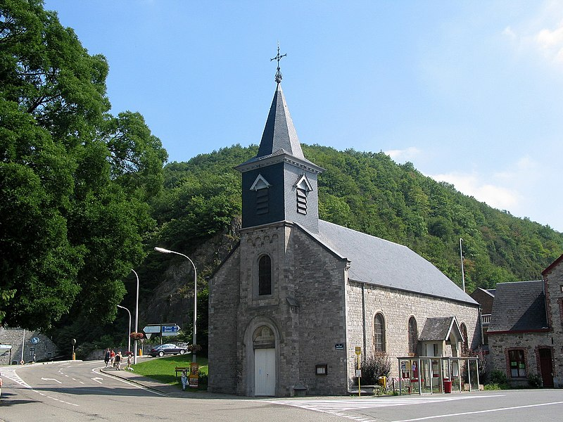 Hastière-Lavaux   (Belgium), the St. Nichola's church (1789).