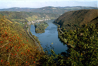 lower part of the Moselle river in Germany