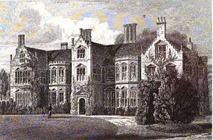 Haughley Park - Engraving of Haughley Park in 1827