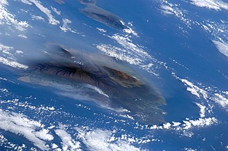 Vog - Volcanic plumes as seen from space shuttle Atlantis