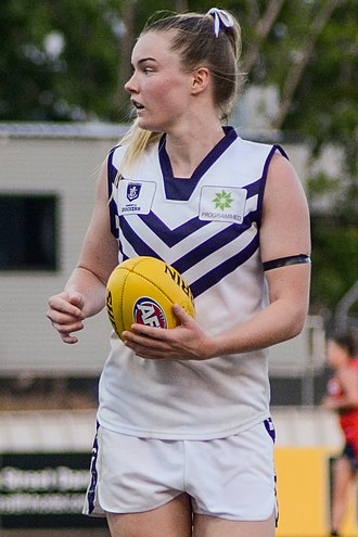 2016 AFL Women's draft - Hayley Miller was selected fourth by the Fremantle Football Club