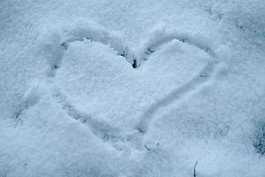 Heart of snow