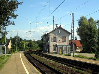 Württemberg Western Railway - Heidelsheim station