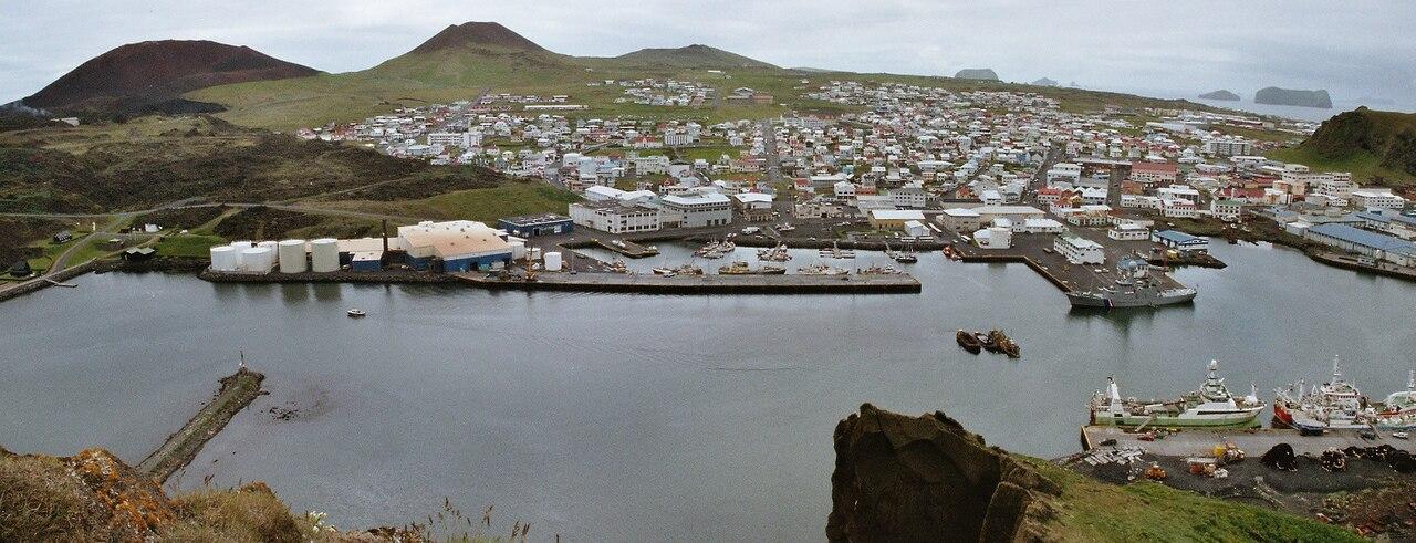 Hamnen på Heimaey.
