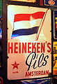 Heinekens Pils Amsterdam enamel advertising sign.JPG
