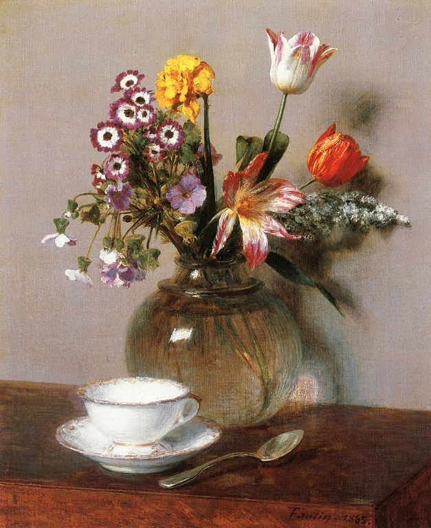Filehenri Fantin Latour Vase Of Flowers With A Coffee Cup