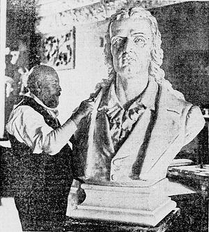 Henry Baerer - Image: Henry Baerer with Schiller bust