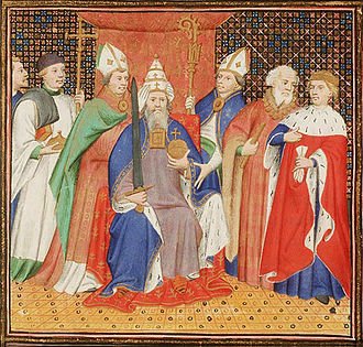 Henry II, Holy Roman Emperor - Henry II crowned as Emperor by Pope Benedict VIII in 1014.