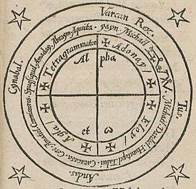 Heptameron magic circle 1565
