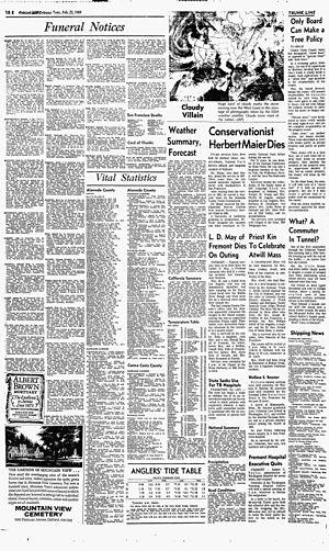 Herbert Maier - Image: Herbert Maier obituary Oakland Tribune Feb 25, 1969