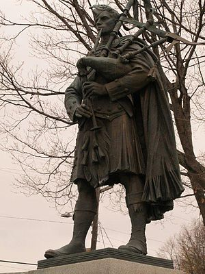 New Glasgow, Nova Scotia - Highland Soldier by renowned sculptor J. Massey Rhind, New Glasgow, Nova Scotia